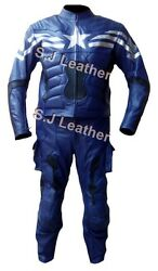 Menand039s Captain Motorcycle Real Leather America Winter Soldier Suit Jacket And Pants