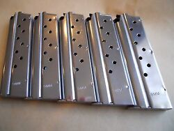 1911 9 Mm Mag Magazinemags 5 Mags9 Shot Stainless. Usa Great Deal