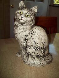 Cat Ceramic Black & White Figurine 8-14
