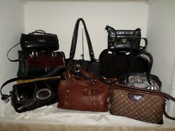 BRIGHTON LOT OF 9 LEATHER NYLON AND CANVAS SATCHEL HOBO SHOULDER BAGS