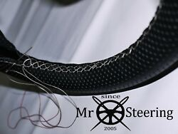 For Rover P4 1949-64 Perforated Leather Steering Wheel Cover White Double Stitch