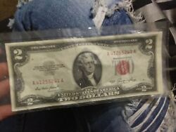 1953 2 Two Dollar Bill Red Seal Star Note
