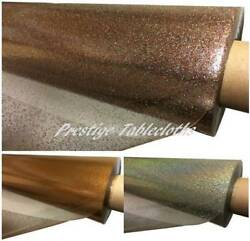 Clear Transparent Glitter Pvc Vinyl Wipe Clean Tablecloth All Sizes By Prestige