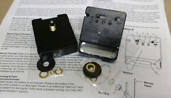 2- Radio Controlled Atomic Clock Movements New For 1/4 Dial W/ Hand Choice