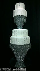 Chandelier Cake Stand Crystal Cake Stand For Wedding 2 Tier Set - 20cm And 35cm
