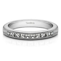 10k Solid Gold Double Shared Prong Classic Wedding Ring(1Ct)