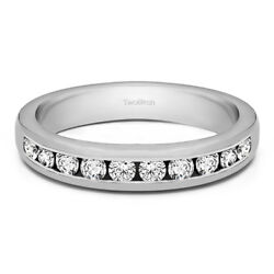 10k Solid Gold Anniversary Wedding Band(1Ct)