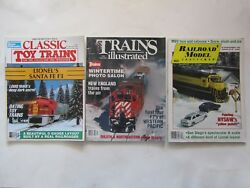 Trains Illustrated - 2/1990, Railroad Model-12/1989, Classic Toy Trains -2/1990
