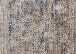 9and039x9and039 Round Loloi Rug Anastasia Polypropylene | Polyester Mist Blue Machine-made