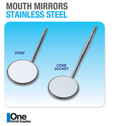 Dental Mouth Mirrors Cone Socket Front Surface 10and039s No 4