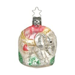 Elephant 7cm Inge-glas Manufaktur Nostalgia Christmas Tree Ornament