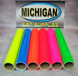 Cast Fluorescent Vinyl-great For Decals Race Cars And More-6 Colors Available