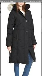 Outdoor Survival Canada Siku Down Parka With Genuine Coyote Fur Trim Large Black