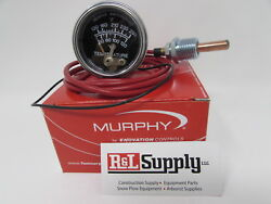 12ft Murphy 20t-250-12-1/2 250 Degree Temperature Gauge For Equipment And Chippers