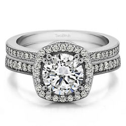 Bridal Set(engagment ring and matching band) set in Gold With Moissanite(1.99tw)