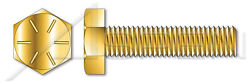 100 Pcs 5/8-11 X 3-1/2 Hex Tap Bolts Full Thread Grade 8 Yellow Zinc