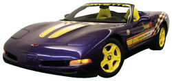 C5 Corvette 1998 Pace Car Complete Decal Kit - Yellow / White