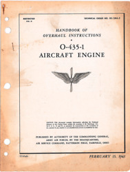 Wwii Lycoming O-435 Engine Overhaul Instruct Stinson L-5 Aircraft Manual Cd Copy
