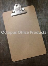 Modern Small A5 Wooden Hardboard Clipboard 250x170mm With Strong Chrome Clip