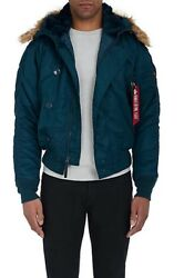 Brand New Alpha Industries Menand039s N-2b Teal Parka