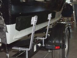 Bunk Trailer Boat Guide On Brackets Padded Marine Loading System Replacement 2pc