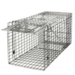 Durable Large Animal Trap Spring Loaded 32x12x13 Easy To Bait And Release Fram