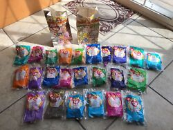 Ty Teenie Beanie Babies 1999 2 Set Collection With Happy Meal Bags