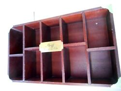 Steiff Vintage Wooden Shelf Wall Display Case For Bear Store/home 22.5x13x4.25