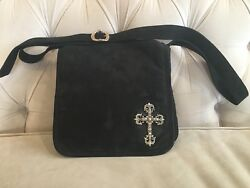 Chrome Hearts Messenger Bag with Filigree Cross