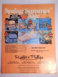 Vintage 1978 Ricter And Phillips Catalog Jewelry Ring Typewriter Watch