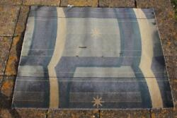 Cunard White Star Line Rms Queen Mary And Elizabeth Art Deco Stateroom Rug A/f