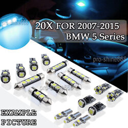 20x Canbus Ice Blue Led Light Interior Package Kit For 2011 And Up Bmw 5 Series Pl