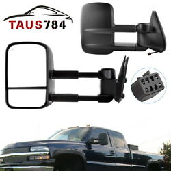 Right+left Side Power Tow Mirrors Heated For 99-02 Chevy Silverado 1500 2500 Hd