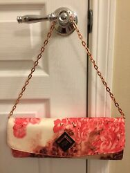 Ted Baker Floral Rose Gold Chain Evening BagClutch