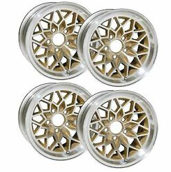 15 X 8 Cast Aluminum Snowflake Wheels With Painter Gold Centers . Set Of 4.