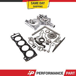 Heavy Duty Timing Chain Kit Cover W/ Mls Head Gasket For 85-95 Toyota 22r 22re