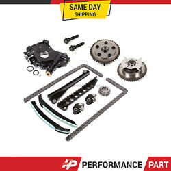 Timing Chain Kit Cam Phaser Oil Pump For 04-10 Ford F150 5.4 3-valve Triton