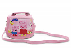 Finex Pink Peppa Pig Premium PU Leather Little Handbag Purse for kids toddlers p