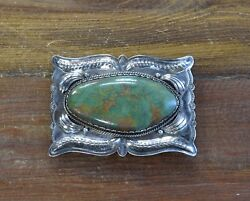 Vintage Southwestern Turquoise Sterling Silver Buckle