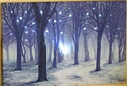 Led Lighted Forest Canvas Wall Art Large Size 23 5 8quot; x 15 7 8quot;