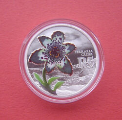 South Africa 2017 Starfish Lily 5 Rand Silver Proof Coin Mintage 1400