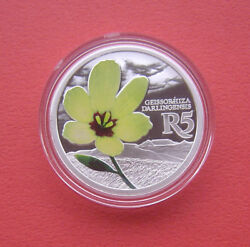 South Africa 2017 Yellow Wine Cup 5 Rand Silver Proof Coin Mintage 1400