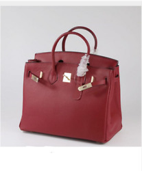 30 CM Genuine Leather Famous Designer Inspired Women Birkin Style Tote Bag