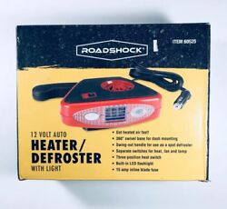 12 Volt Auto Heater Defroster with Light ELECTRIC PORTABLE CAR HEATER