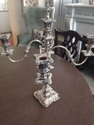 19th Century Pair Of Sheffield Silver Candelabras