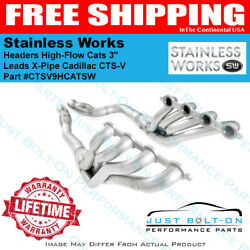 Stainless Works 2009-15 CTS-V Headers High-Flow Cats 3