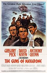 The Guns Of Navarone 1961 Stretched Movie Poster Canvas Wall Art Print 60s Film