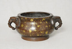 Large  Chinese  Bronze  Incense  Burner  With  Studio  Mark      M2687
