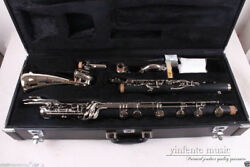 New Bass Clarinet Low C Bb key Rubber Wood Silver Plated Sweet sound Pads Case