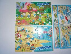 The Smurfs Peyo Jigsaw Puzzles Russia 2011 Kinder Surprise Collectibles